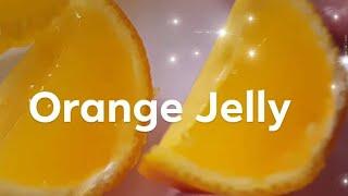Home made Orange Jelly || Healthy Vegetarian Orange Jelly using Agar Agar || Ep:-8
