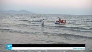 كاميرا فرانس24 تشهد لحظة وصول مهاجرين لجزيرة كوس اليونانية