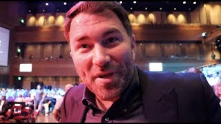 'I DON'T CARE ABOUT WILDER - HE IS NOT GOING TO JOSHUA-RUIZ AS WE WOULD PUT IT ON HIM' - EDDIE HEARN