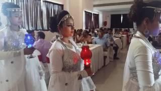 Marriage reception of malayalam actress ponnamma babus daughter.