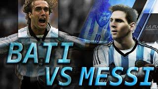 TOP 10 GOLES MESSI VS BATISTUTA Seleccion Argentina    TOP 10 GOALS