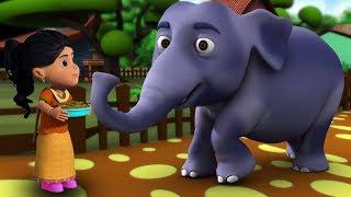 Hathi Raja Kahan Chale | Hindi Nursery Rhymes | Baby Rhymes | Kids Song | हाथी राजा कहाँ चले