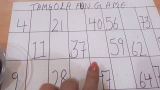 Tambola fun game with coins 😊
