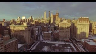 NYC Aerial Drone Footage Blizzard 2016