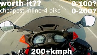 HONDA CBR650F FIRST IMPRESSION | REVIEW | ACCELERATION TEST 0-100, 0-200.