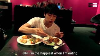 [ENG] 150825 Kim Seokjin eating