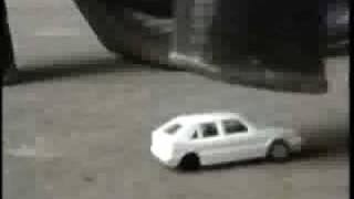 women crush toy cars