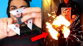 TOP 5 DEADLIEST HOMEMADE FIDGET SPINNERS