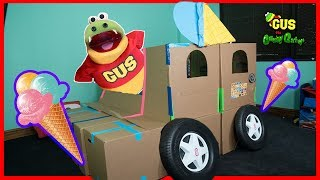 BOX FORT ICE CREAM TRUCK with Gus the Gummy Gator!