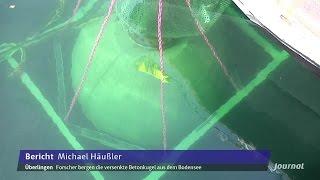 Forscher des Fraunhofer-Instituts bergen Betonkugel aus Bodensee