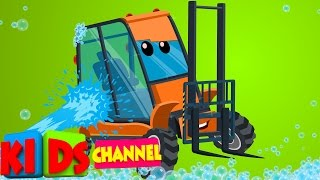 Forklift | Car Wash | cartoon vehicles for kids | video for kids | car cartoon