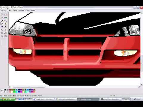 how to draw a car in Ms.Paint Dodge By Sega