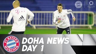First FC Bayern Training in Doha - with Sandro Wagner   DOHA DAY 1