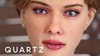 "An ""anatomically correct"" Scarlett Johansson robot"