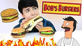 i only ate BOB'S BURGERS FOODS for 24 hours!!!