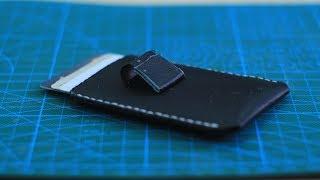 DIY how to make a Minimalist Leather Wallet (Giveaway) - كيف تصنع محفظة جلدية صغيرة