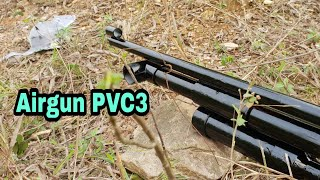 Airgun PVC3/ Amazing small air gun PVC3 from pvc pipe to hunt that no one has done it