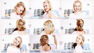 Как сделать красивую прическу на коротких волосах самому
