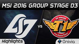 CLG vs SKT Highlights MSI 2016 D3 Counter Logic Gaming vs SK Telecom T1