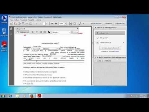 Cum completam o cerere de tip  pdf, Telekom, Romtelecom, alte tipuri de cerei pdf.