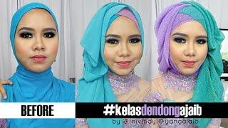 Tips Tutorial Hijab Wajah Bulat Berpipi Chubby Untuk Pesta dan Wisuda | Inivindy