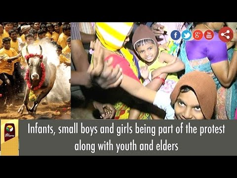 Infants, small boys and girls being part of the protest along with youth and elders