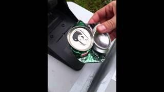 Aluminum can crusher