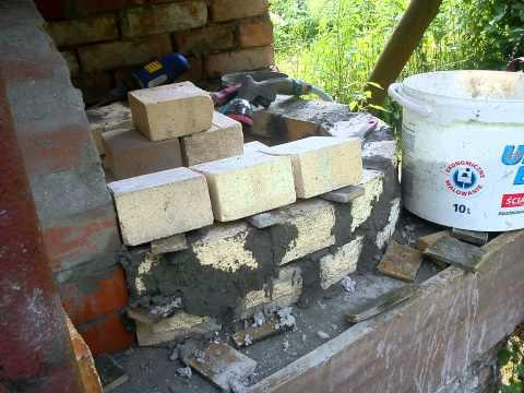 Budowa pieca do pizzy chleba.