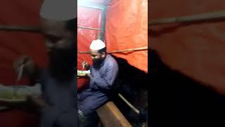 Eating Jal muri of molla.