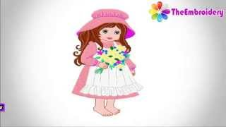 Girl Embroidery Design | Download Free Embroidery Designs