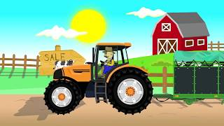 Tractor Fairy Tale for Kids | Green Tractor | Bajki Traktory | Traktor i Zastosowanie