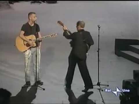 Eros Ramazotti & Adriano Celentano performing on live TV