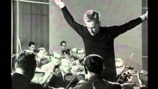 Karajan.  Rehearsal of Schumann's 4th Symphony