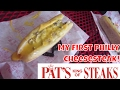 My First Philly Cheese Steak at Pat's King of Steaks
