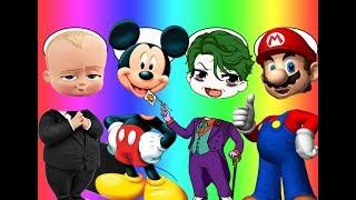Wrong Heads Bad Baby Boss BaBy Mickey Mouse Mario Joker Family Song Nursery