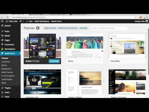 How to Customizing a wordpress theme