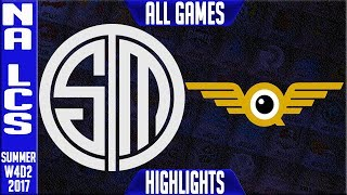 TSM vs FLY Highlights ALL GAMES | NA LCS Week 4 Summer 2017 | Team Solomid vs FlyQuest