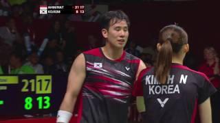 TOTAL Performance of the Day | World Championships 2015-Ahm/Nat vs Ko/Kim