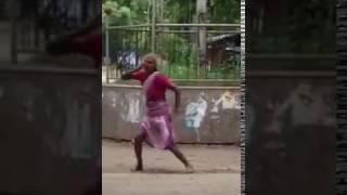 aunty doing breakdance