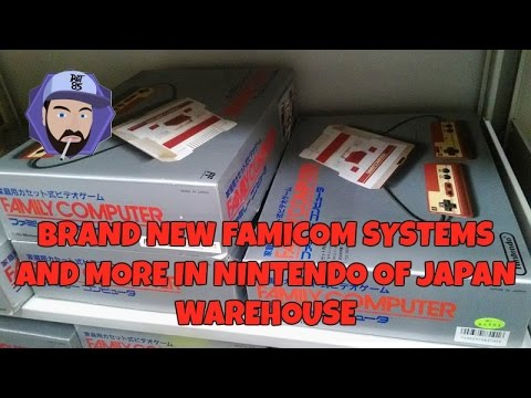 Brand New Famicom Systems and More in Nintendo of Japan Warehouse | RGT 85