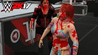 Nia Jax Vs Asuka First Blood Match   WWE 2K17 PC Modding