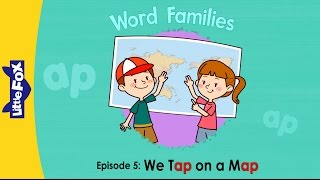 Word Families 5: We Tap on a Map | Level 1 | By Little Fox