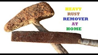 Home made  heavy rust  remover. diy