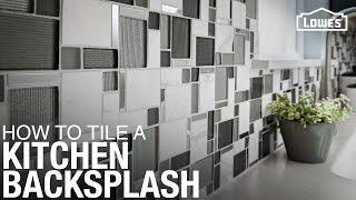 How to Tile a Kitchen Backsplash