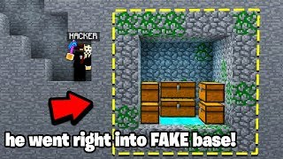 this Minecraft Base Will Fool 90% Of HACKERS..! (Owner Catching Hackers)