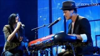 Bruno Mars - It Will Rain ft. Skylar Grey (Live) (Lyrics - Subtitulos en español)