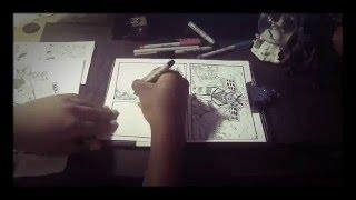 (Time lapse 30) Godzilla vs Kiryu comic strip page 1