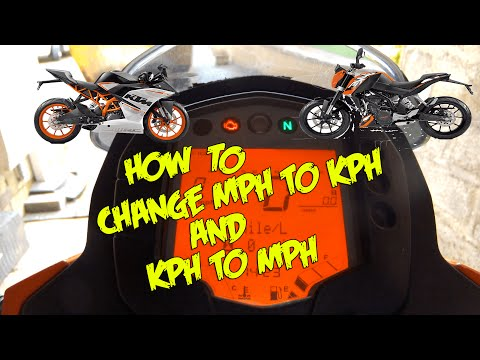How to change MPH - KPH   KTM Duke & RC 125/200/390