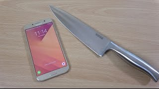 Samsung Galaxy A7 2017 -  Knife Scratch Test (4K)