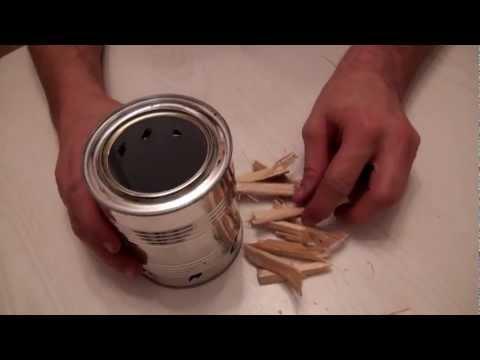 Как сделать из банки горелку